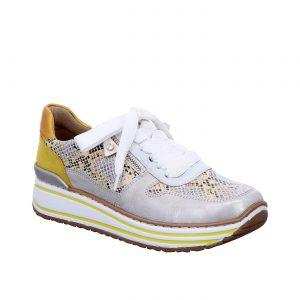 Дамски маратонки Аra 12-32461-76 змийско и бяло - снимка 1