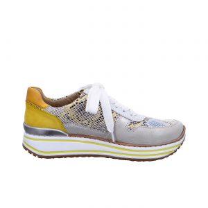 Дамски маратонки Аra 12-32461-76 змийско и бяло - снимка 2
