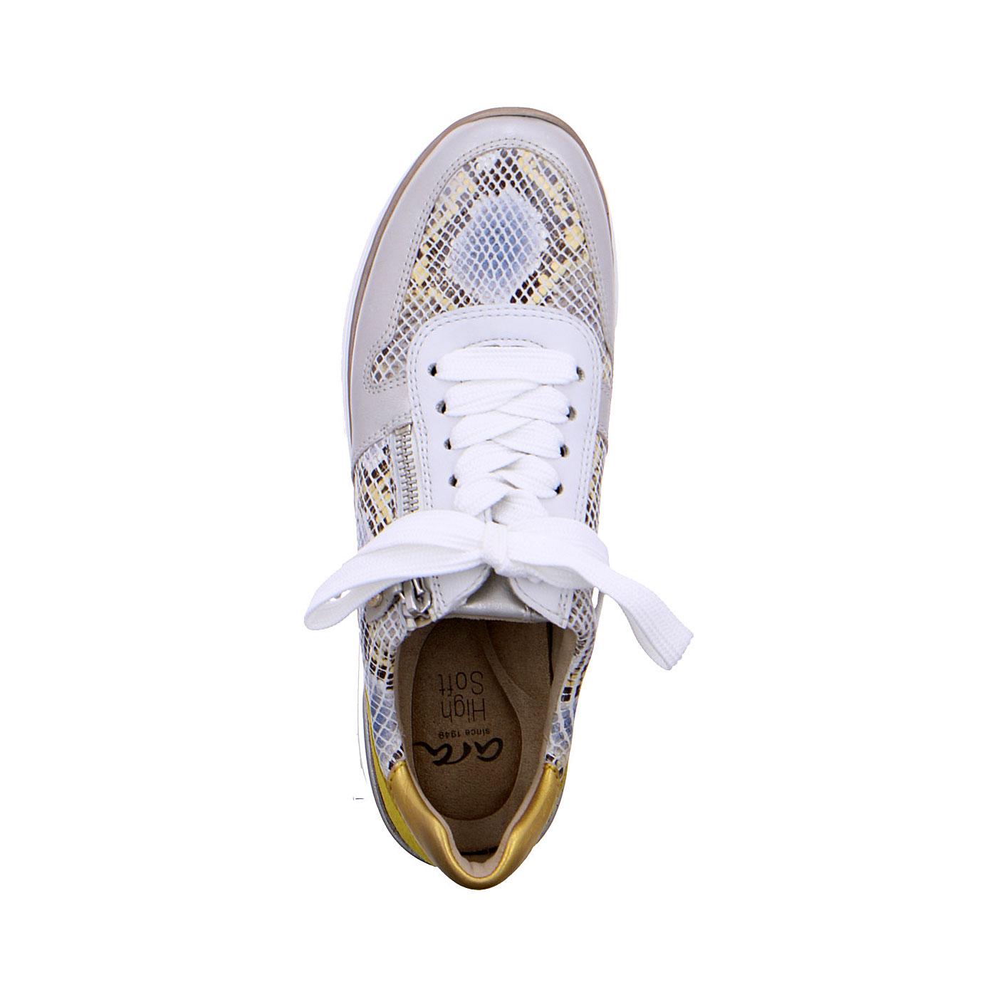 Дамски маратонки Аra 12-32461-76 змийско и бяло - снимка 5