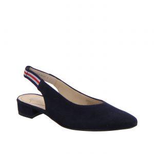 Елегатни обувки с отворена пета от набук ara 12-43021-02 тъмно сини - снимка 1