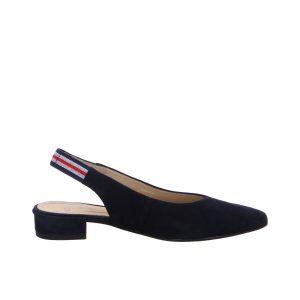 Елегатни обувки с отворена пета от набук ara 12-43021-02 тъмно сини - снимка 2