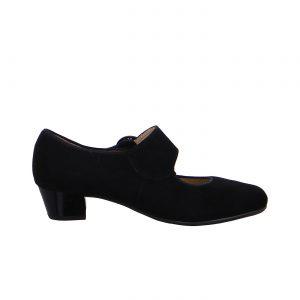 Дамски черни елегантни обувки на ток с каишка Ара 12-63630-01 - снимка 2
