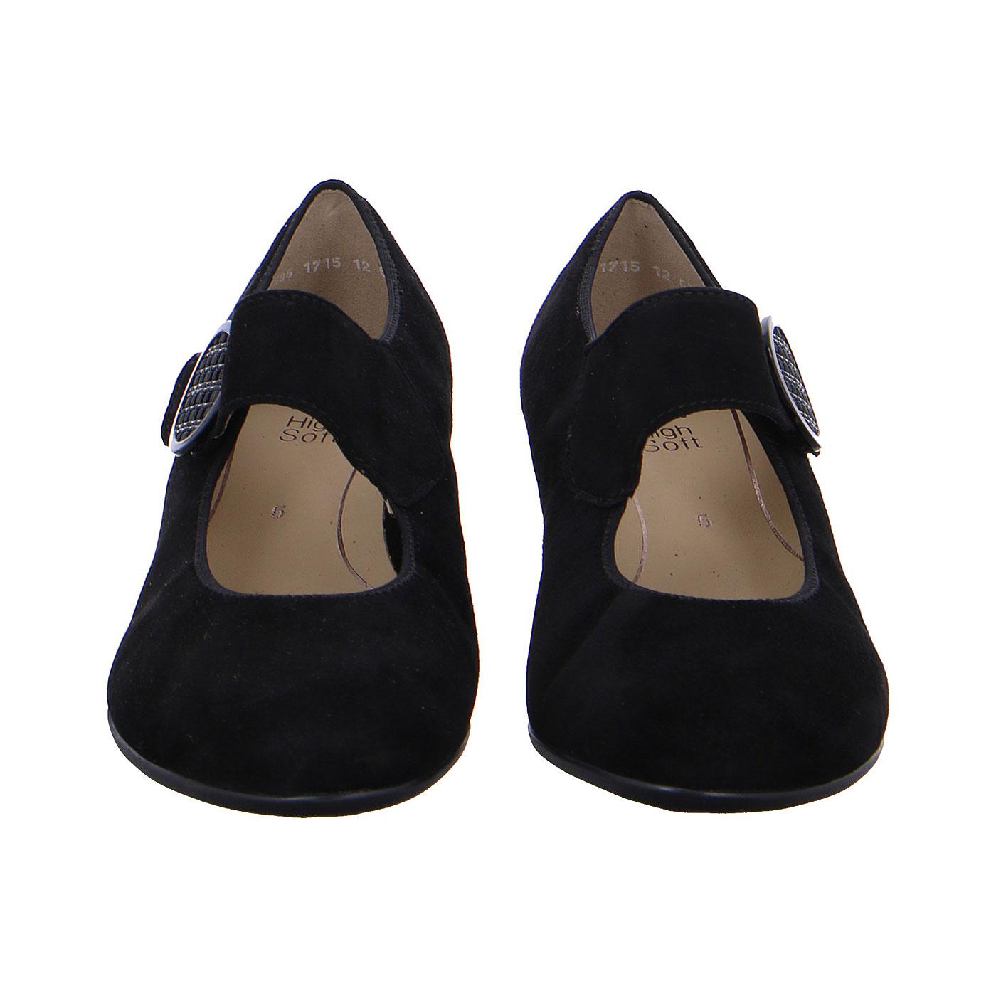 Дамски черни елегантни обувки на ток с каишка Ара 12-63630-01 - снимка 6