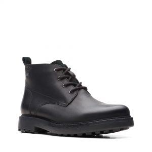 Мъжки високи обувки Clarks Chard Mid GTX Black Oily Lea - снимка 1