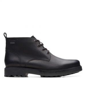 Мъжки високи обувки Clarks Chard Mid GTX Black Oily Lea - снимка 2