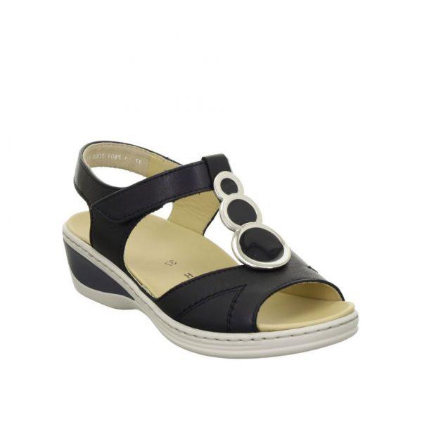 Дамски кожени сандали ara COLMAR 12-39055-16 тъмно сини - снимка 1