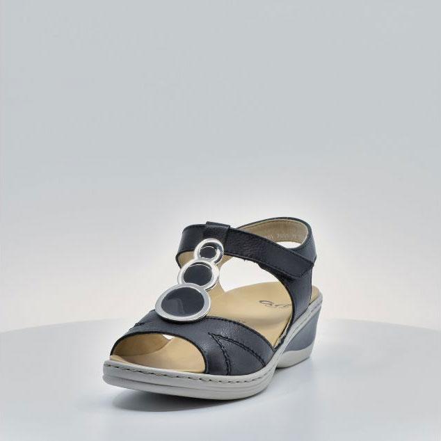 Дамски кожени сандали ara COLMAR 12-39055-16 тъмно сини - снимка 10