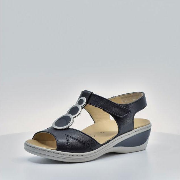 Дамски кожени сандали ara COLMAR 12-39055-16 тъмно сини - снимка 2