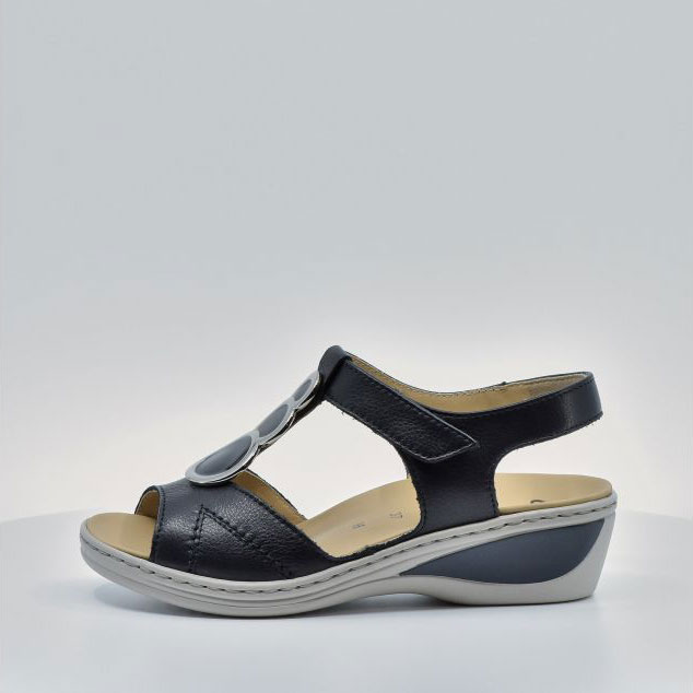 Дамски кожени сандали ara COLMAR 12-39055-16 тъмно сини - снимка 3