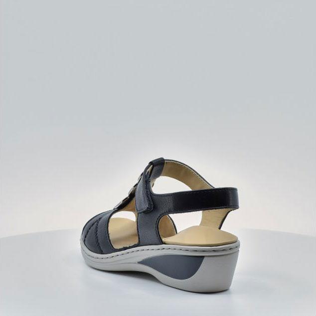 Дамски кожени сандали ara COLMAR 12-39055-16 тъмно сини - снимка 4
