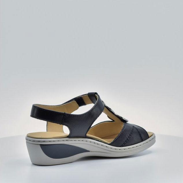 Дамски кожени сандали ara COLMAR 12-39055-16 тъмно сини - снимка 5