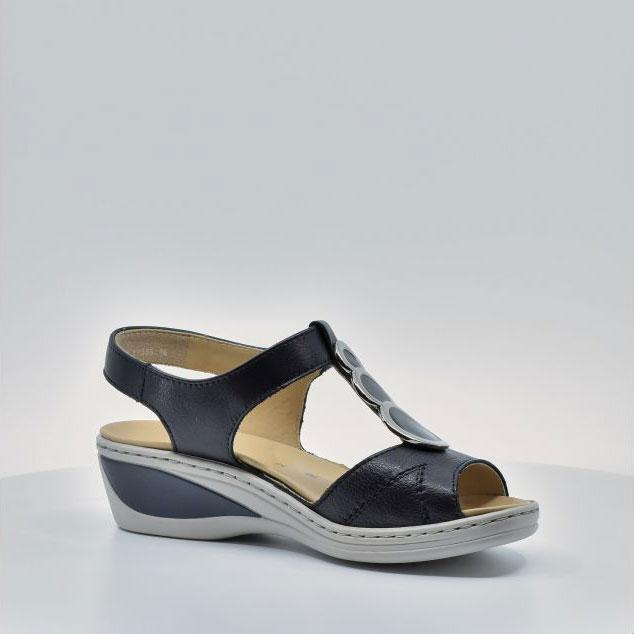 Дамски кожени сандали ara COLMAR 12-39055-16 тъмно сини - снимка 6