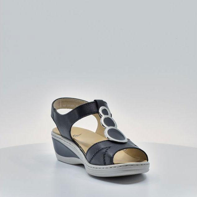Дамски кожени сандали ara COLMAR 12-39055-16 тъмно сини - снимка 7