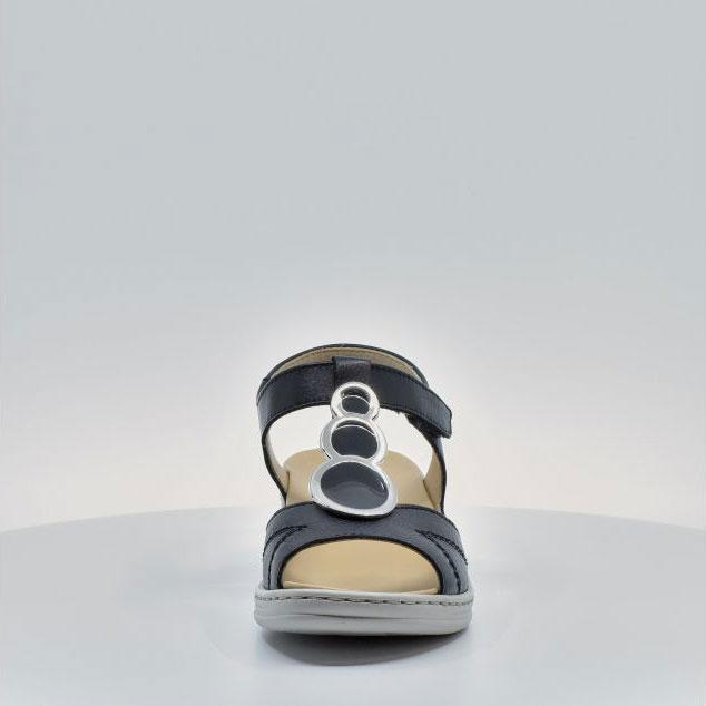 Дамски кожени сандали ara COLMAR 12-39055-16 тъмно сини - снимка 8