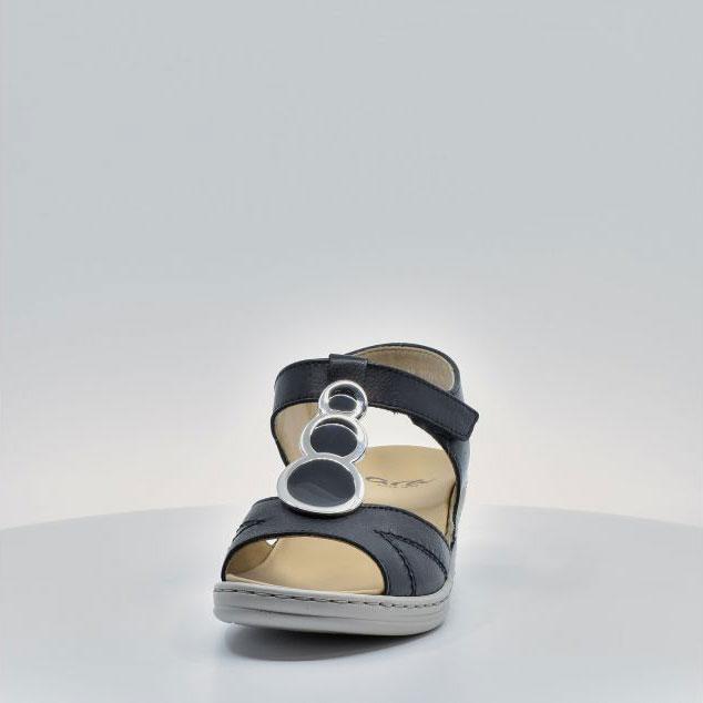 Дамски кожени сандали ara COLMAR 12-39055-16 тъмно сини - снимка 9