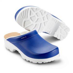 Работно сабо Sika Footwear Flex LBS 8105 - ест. кожа, бяло и синьо