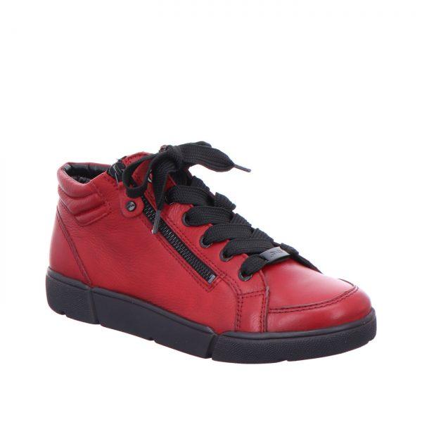 Дамски високи спортни обувки с връзки ara 12-14435-05 бордо - снимка 1
