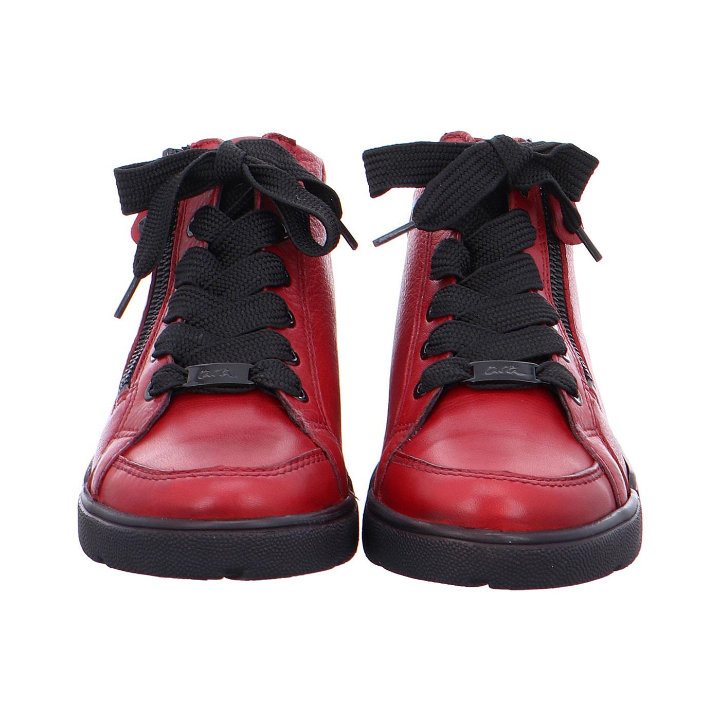 Дамски високи спортни обувки с връзки ara 12-14435-05 бордо