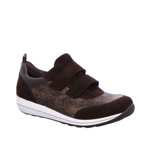Дамски спортни обувки с велкро ara 12-44520-79 кафяви - снимка 1