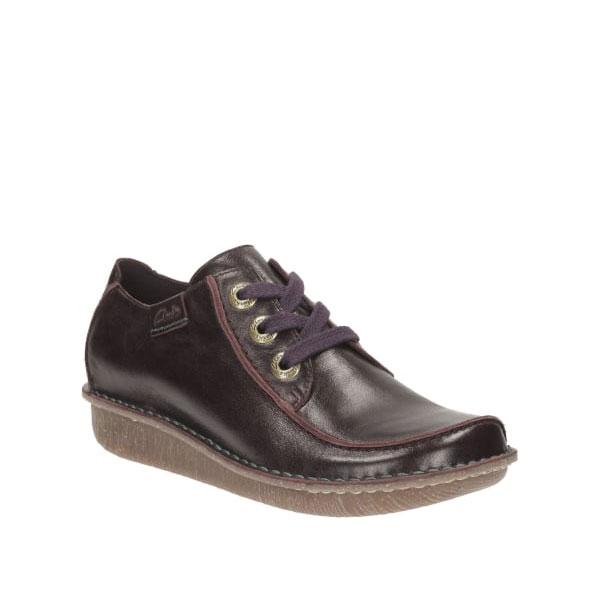 Дамски ежедневни обувки Clarks Funny Dream Aubergine от естествена кожа - снимка 1