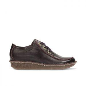 Дамски ежедневни обувки Clarks Funny Dream Aubergine от естествена кожа - снимка 2