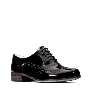 Дамски ежедневни обувки Clarks Hamble Oak Black Patent - снимка 1