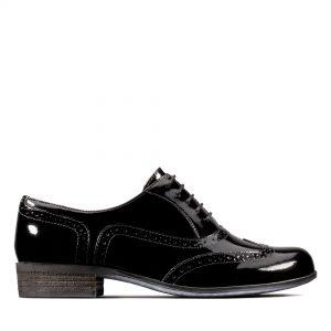 Дамски ежедневни обувки Clarks Hamble Oak Black Patent - снимка 2