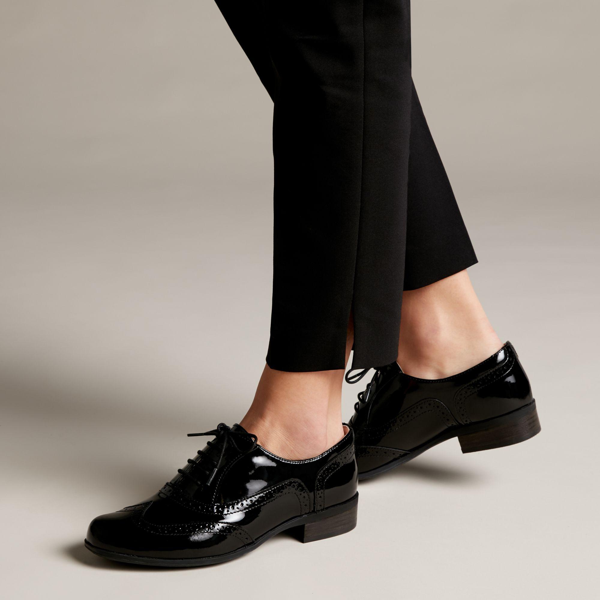 Дамски ежедневни обувки Clarks Hamble Oak Black Patent