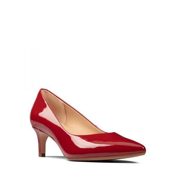 Дамски елегантни обувки Clarks Laina 55 от естествена кожа червени - снимка 1