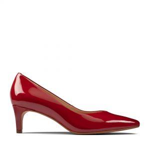 Дамски елегантни обувки Clarks Laina 55 от естествена кожа червени - снимка 2