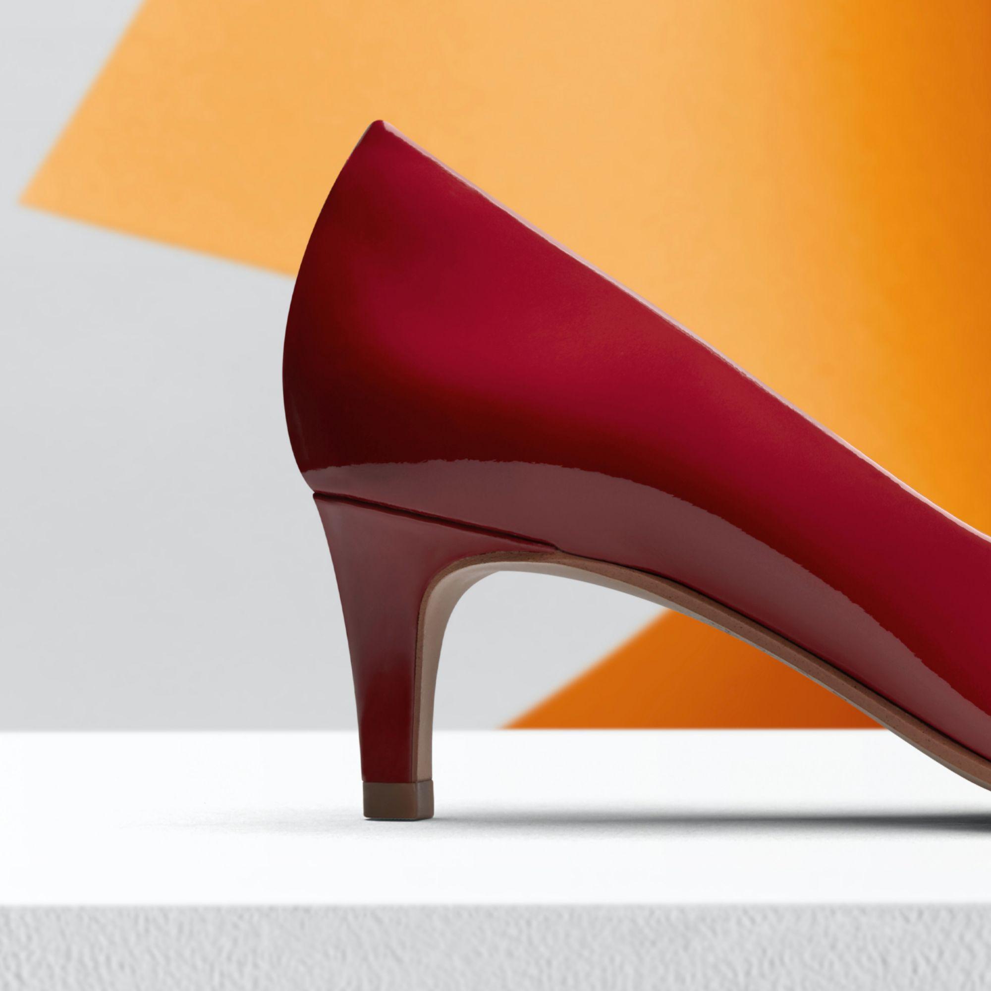 Дамски елегантни обувки Clarks Laina 55 от естествена кожа червени - снимка 7