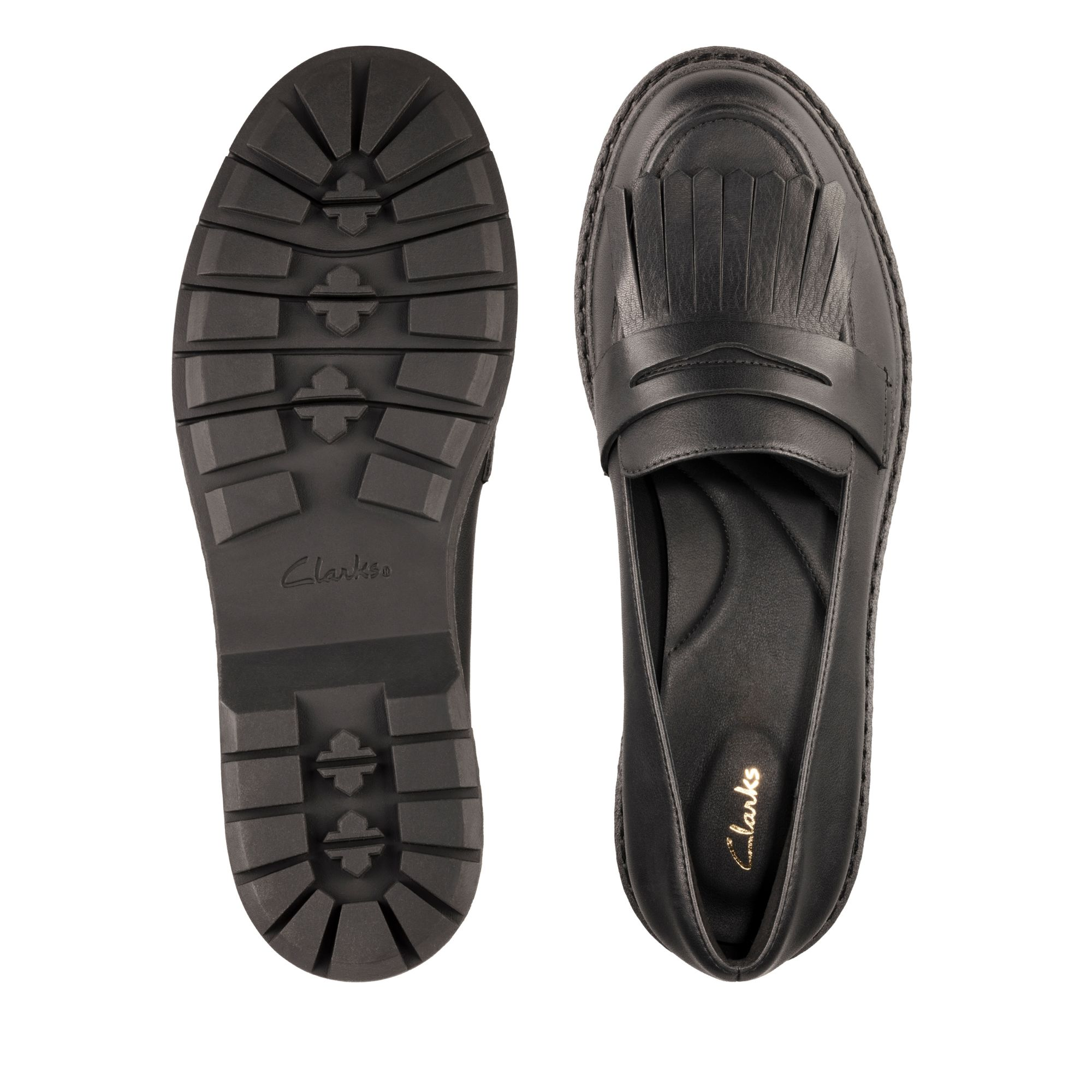 Дамски ежедневни обувки Clarks Witcombe Dawn от естествена кожа черни - снимка 6