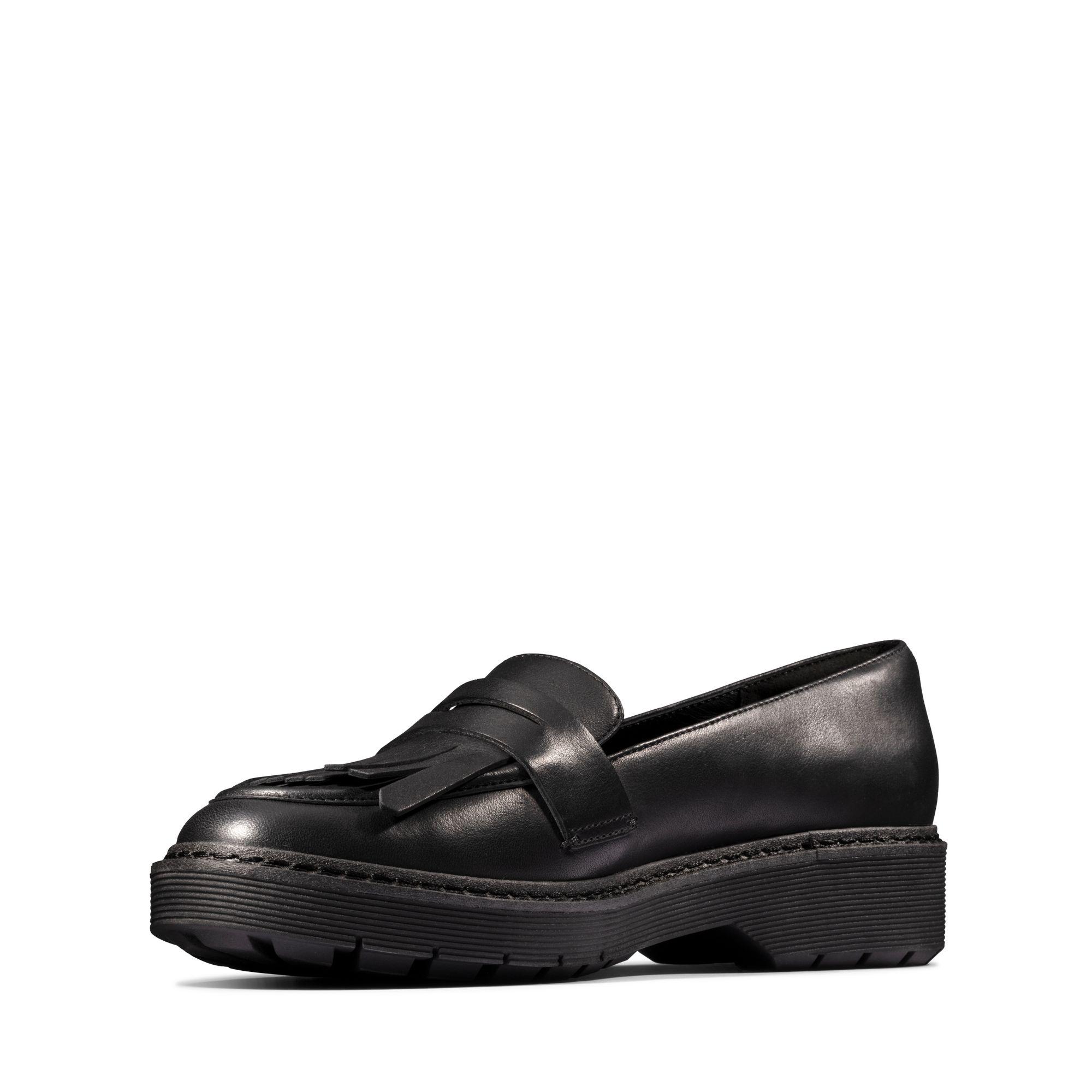 Дамски ежедневни обувки Clarks Witcombe Dawn от естествена кожа черни - снимка 7
