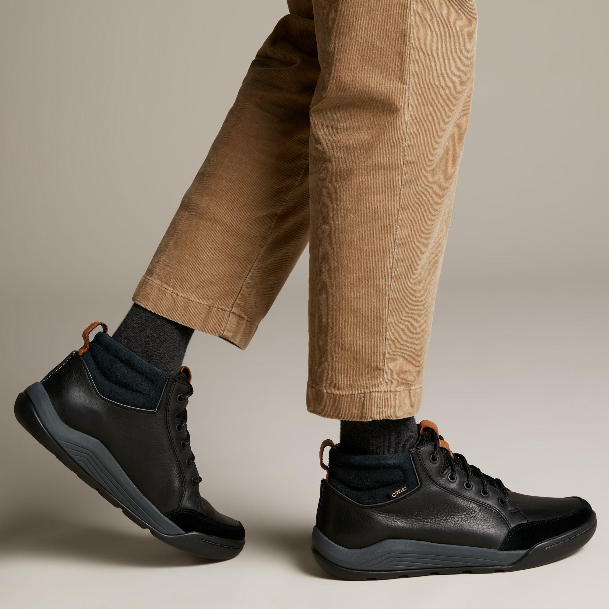 Мъжки обувки Clarks Ashcombe Mid Gore-Tex естествена кожа - снимка 8
