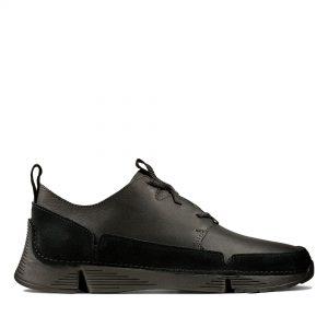 Мъжки спортни обувки Clarks Tri Solar от естествена кожа черни - снимки 2
