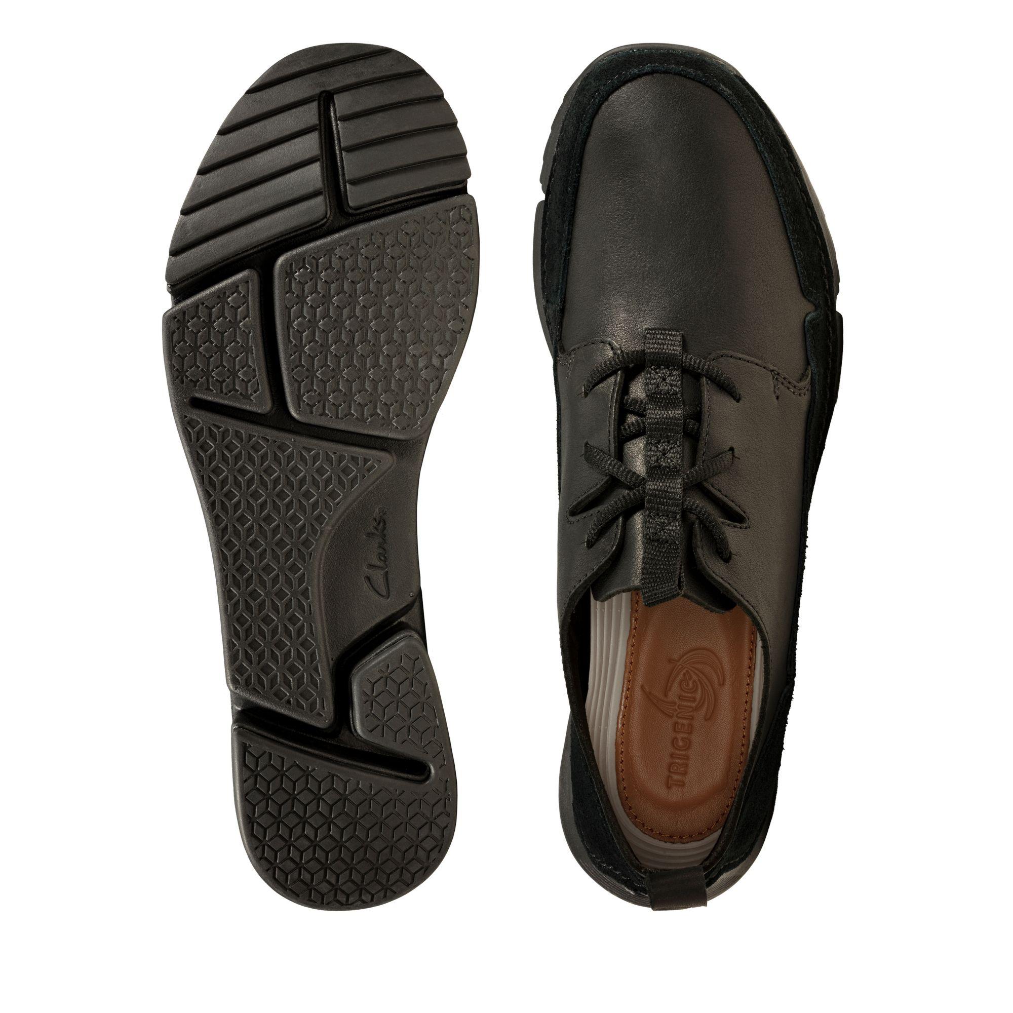 Мъжки спортни обувки Clarks Tri Solar от естествена кожа черни - снимки 7