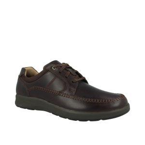 Мъжки ежедневни кожени обувки Clarks Un Trail Apron цвят махагон - снимка 1