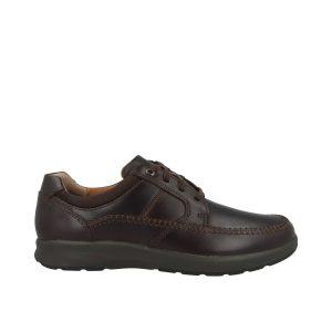 Мъжки ежедневни кожени обувки Clarks Un Trail Apron цвят махагон - снимка 2