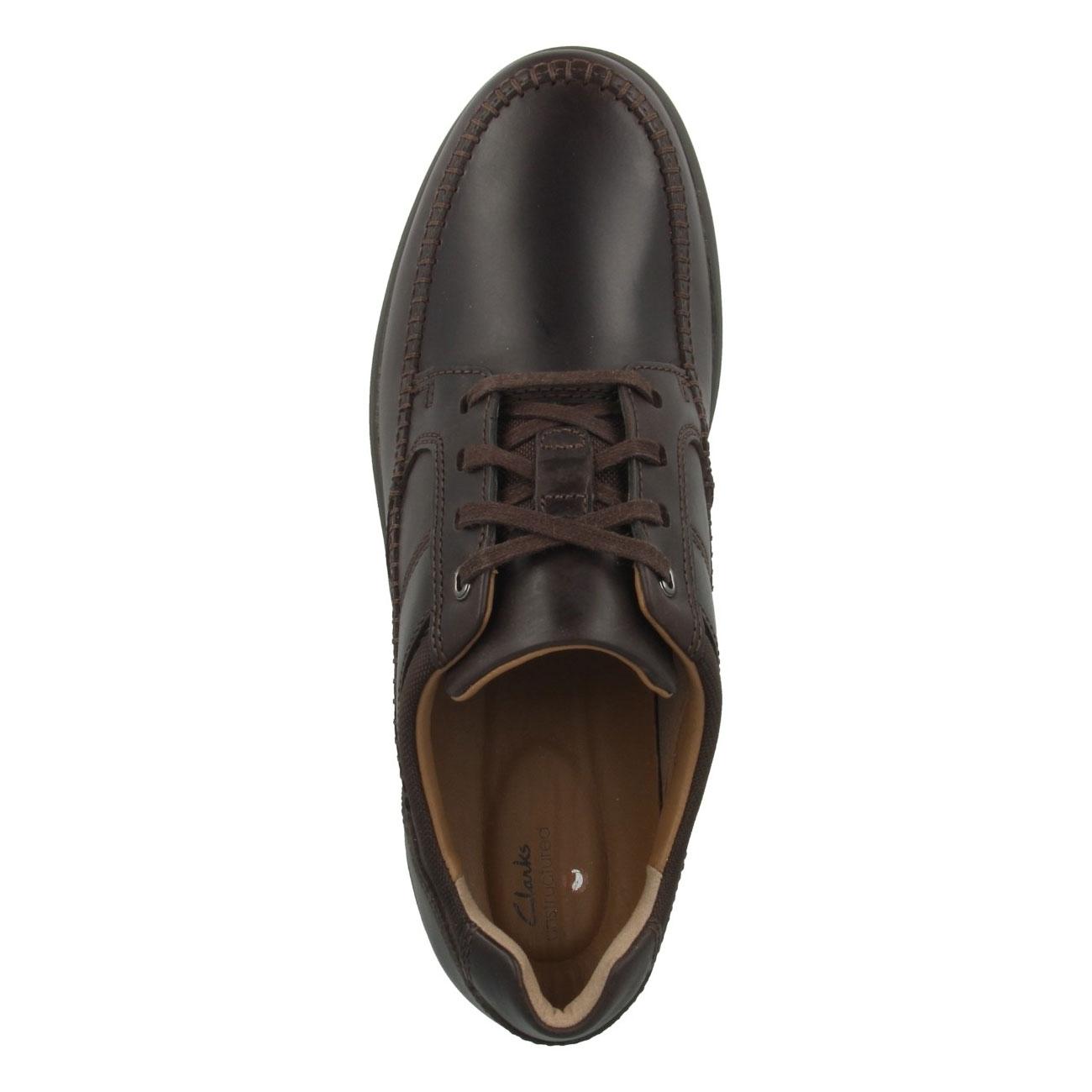 Мъжки ежедневни кожени обувки Clarks Un Trail Apron цвят махагон