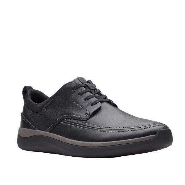 Мъжки ежедневни обувки Clarks Garratt Street - естествена кожа - снимка 1