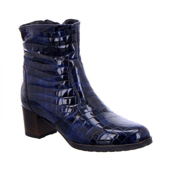 Дамски сини боти с крокодилска шарка ara 12-16972-76 - снимка 1