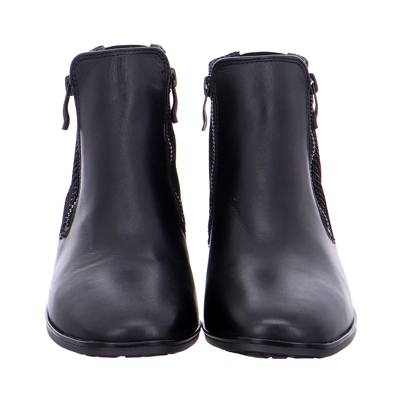 Дамски черни боти от ест. кожа ara 12-11837-76 - снимка 5