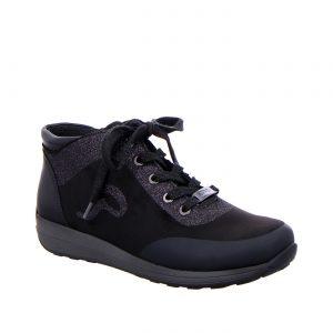 Дамски ежедневни високи спортни обувки от ест. кожа ara 12-44585-01 - снимка 1