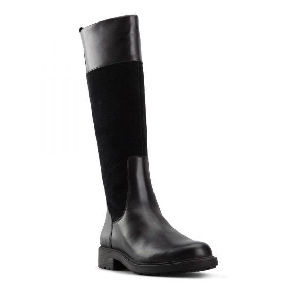 Дамски кожени ботуши с топла подплата Clarks Orinoco 2 Hi - черни, снимка 1