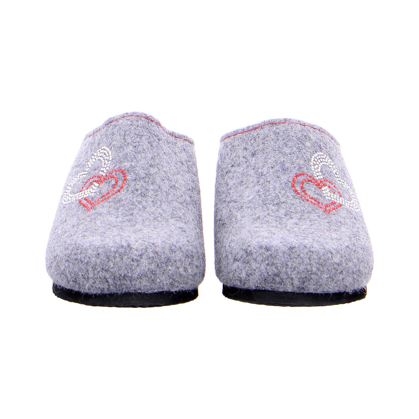 Дамски сиви пантофи от вълнен филц ara 15-29907-06 - снимка 5