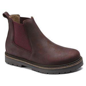 Дамски високи обувки от ест. кожа Birkenstock Stalon LENU burgundy - снимка 1