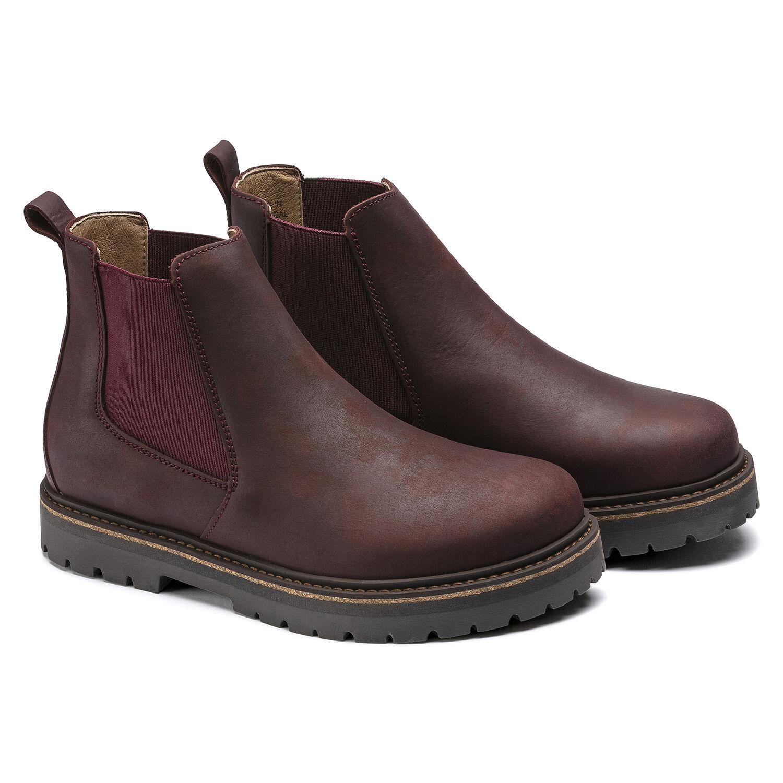 Дамски високи обувки от ест. кожа Birkenstock Stalon LENU burgundy - снимка 5