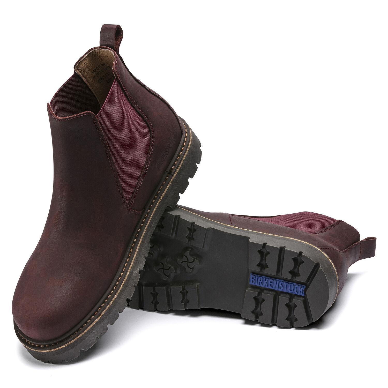 Дамски високи обувки от ест. кожа Birkenstock Stalon LENU burgundy - снимка 6