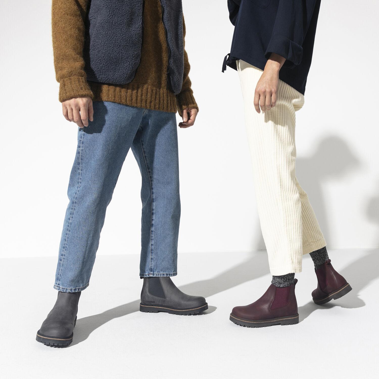 Дамски високи обувки от ест. кожа Birkenstock Stalon LENU burgundy - снимка 7