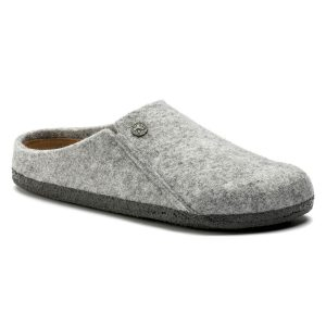 Дамски чехли BIRKENSTOCK Zermatt Soft WZ Light Gray - снимка 1